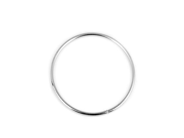 Kovový kruh na lapač snů / k dekorování Ø8 cm