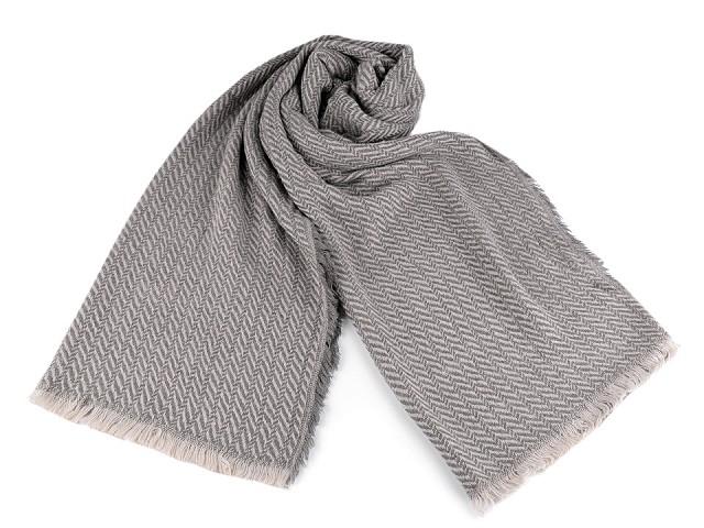 Pletený zimný šál 60x200 cm