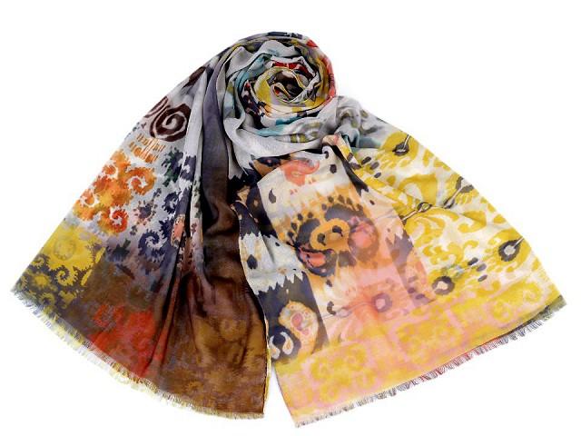 Šátek / šála vzorovaná 70x180 cm