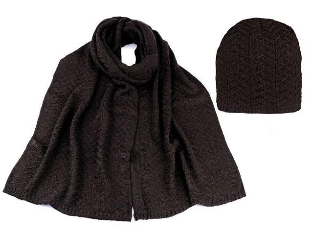 Dámska zimná sada čiapka a šál