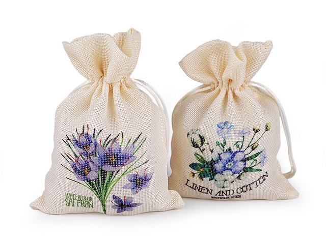 Vrecko s kvetmi 13x18 cm imitácia juty