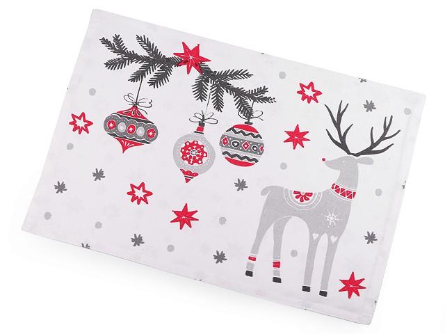 Vianočné prestieranie obojstranné 33x45 cm