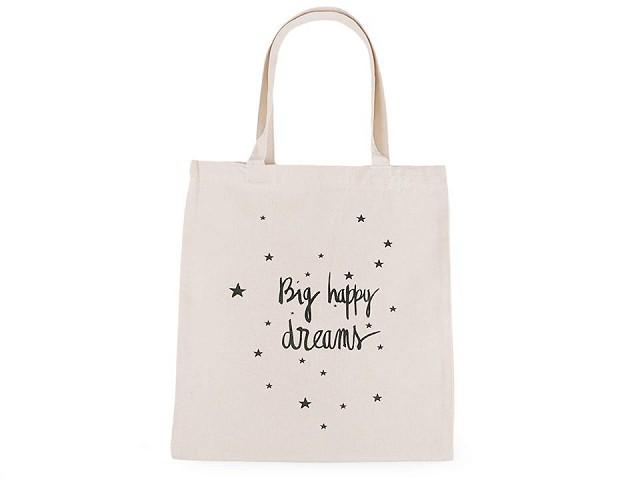 Textilná taška bavlnená 34x37 cm srdce, hviezdy