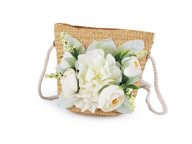 Dívčí kabelka s květy 14x15 cm