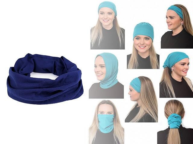 Multifunkční šátek pružný, bezešvý, jednobarevný