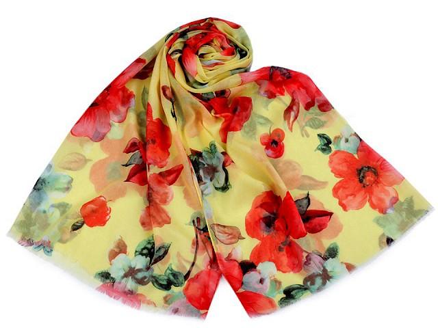 Šatka / šál kvety 70x180 cm