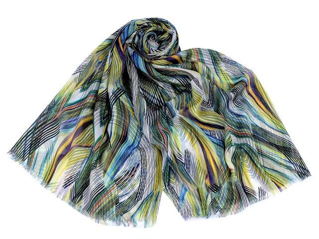 Šátek / šála žíhaná 75x180 cm