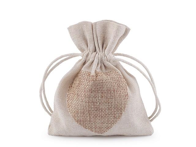 Bavlnené vrecúško srdce 11x13 cm