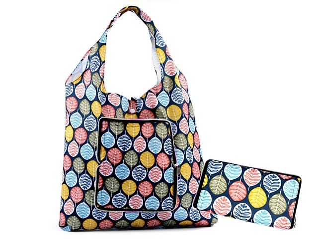 Skládací nákupní taška pevná 35x41 cm