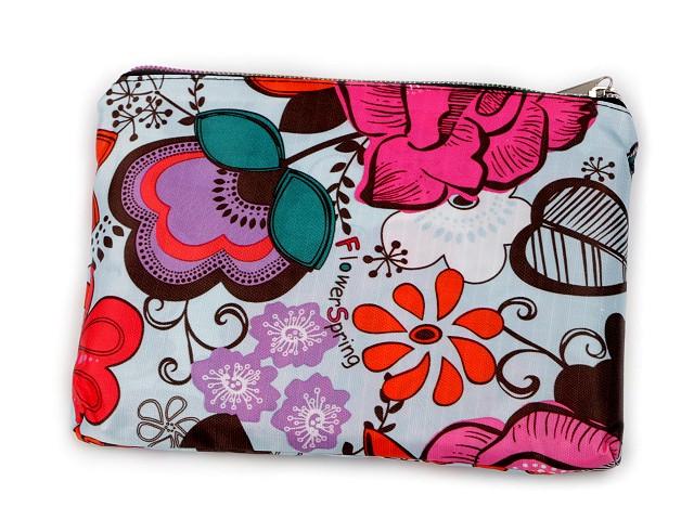 Skládací nákupní taška se zipem 41x46 cm