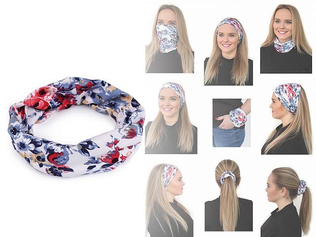 Multifunkční šátek pružný dvojitý