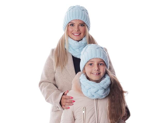 Dámska / dievčenská zimná sada čiapka a nákrčník