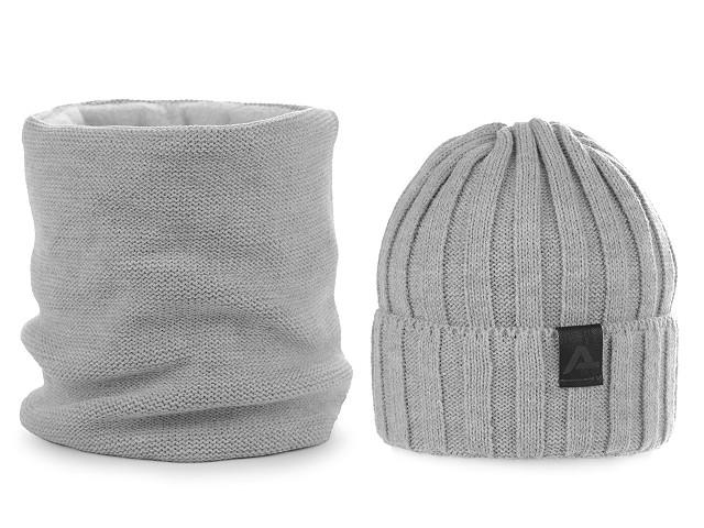 Pánská zimní sada čepice a nákrčník
