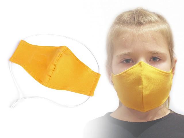 Dětská rouška z pružné teplákoviny 6-14 let