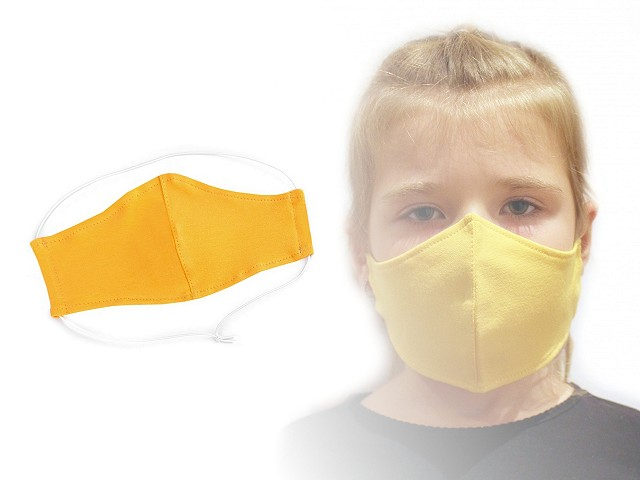 Dětská rouška z pružné teplákoviny 3-6 let