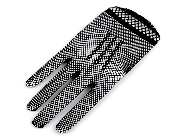 Společenské rukavice síťované / gotik
