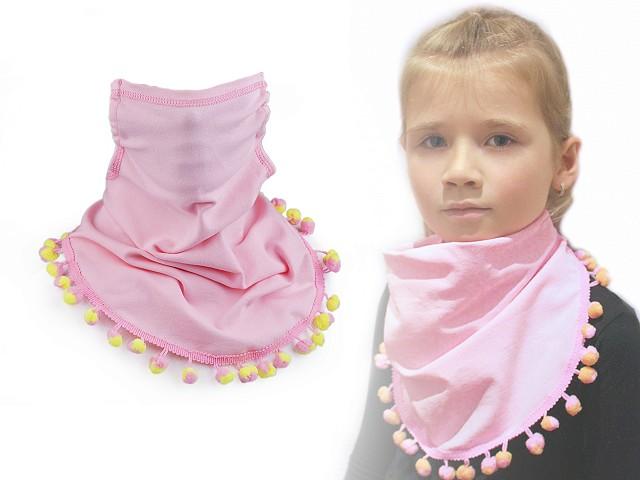 Šátek včetně roušky 2v1 dětský