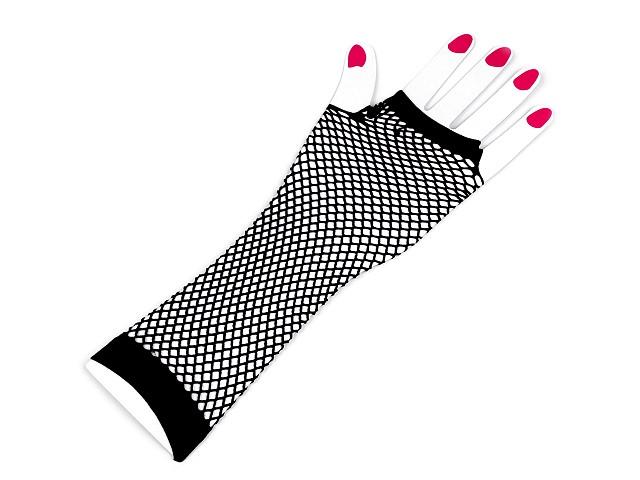 Długie rękawiczki siatkowe / kabaretki bezpalcowe