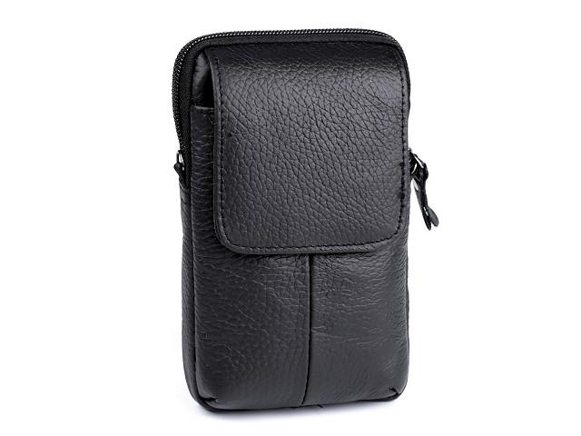 Pánské pouzdro / peněženka na opasek na mobil / doklady 10,5x17 cm