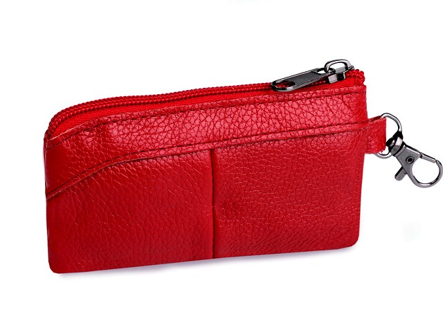 Kľúčenka / peňaženka malá, kožená 7x13 cm