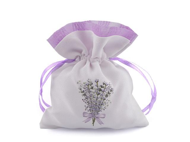 Darčekové vrecúško s potlačou levandule 10x13 cm