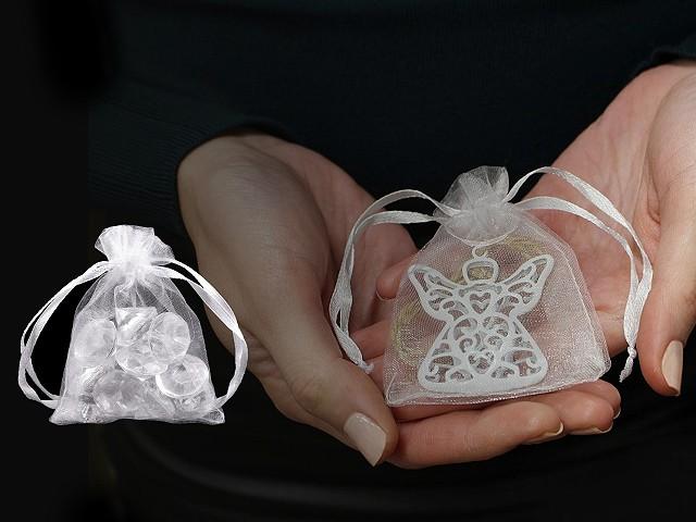 Darčekové vrecúško 7x8,5 cm organza