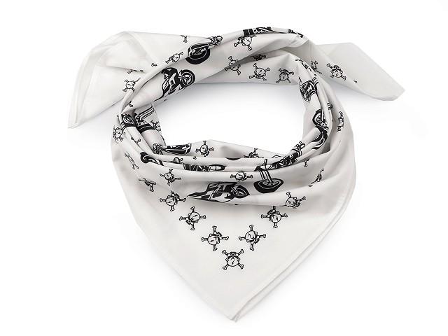 Bavlněný šátek motorky 70x70 cm