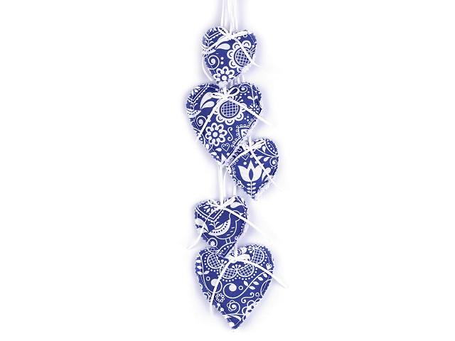 Dekorační závěs srdce / girlanda hand made