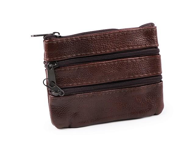 Kľúčenka / peňaženka malá, kožená 9x12 cm