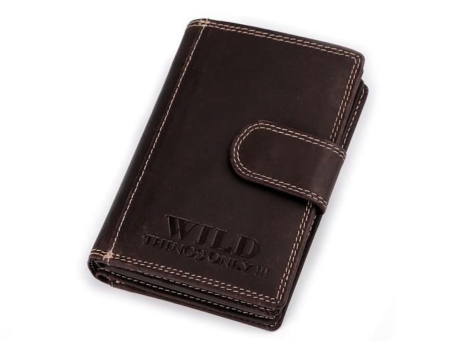 Peňaženka kožená  9,5x12,5 cm