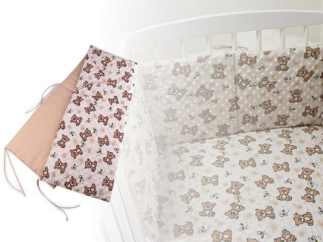 Baby Crib Bumper Minky Plush 145x30 cm