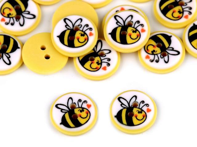 """Gombík detský veľkosť 24 """"včielka"""