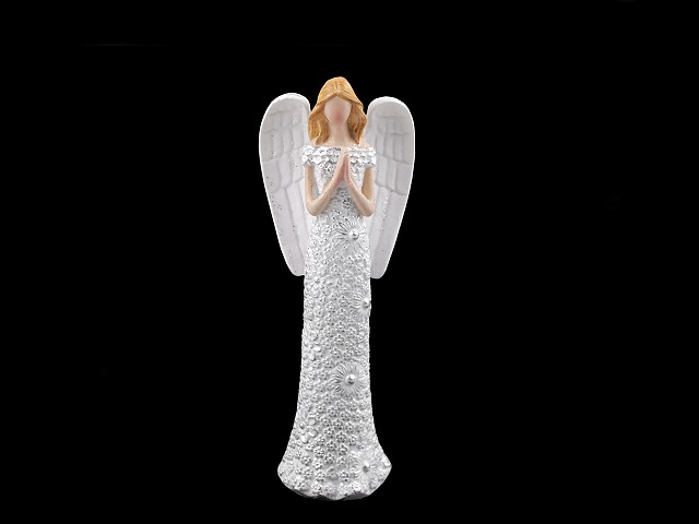 Dekorace anděl s jemnými glitry - malý