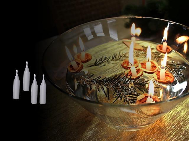 Vánoční svíčky do skořápek ořechů