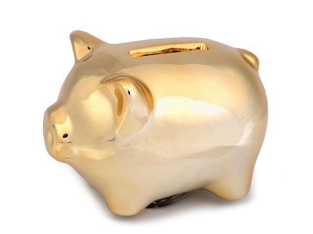 Zlaté prasiatko pre šťastie / pokladnička