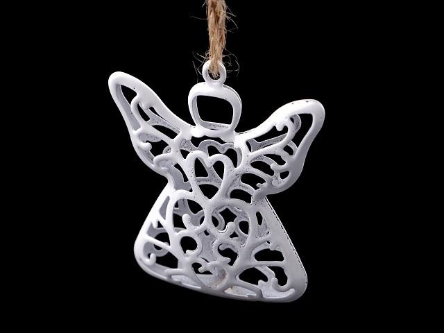 Kovový anděl k zavěšení 3D