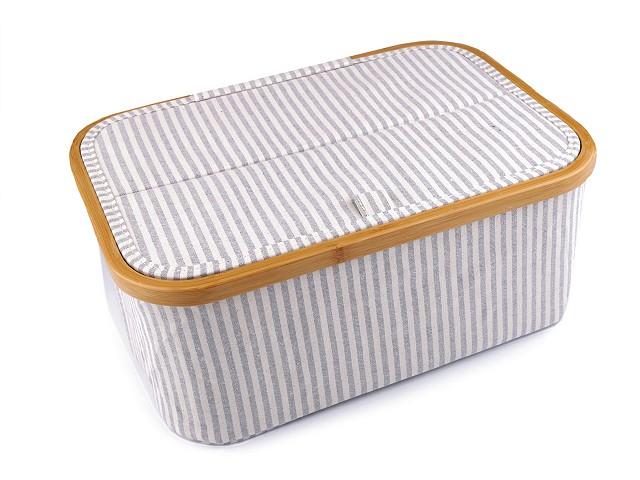 Skládací box na šicí potřeby a pletení