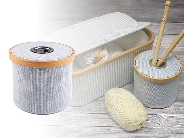 Skládací box na pletení a šicí potřeby