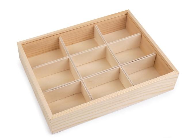 Pudełko drewniane z przesuwaną pokrywką