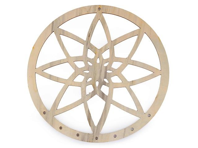 Dřevěný kruh na lapač snů mandala k domalování Ø25 cm 2. jakost