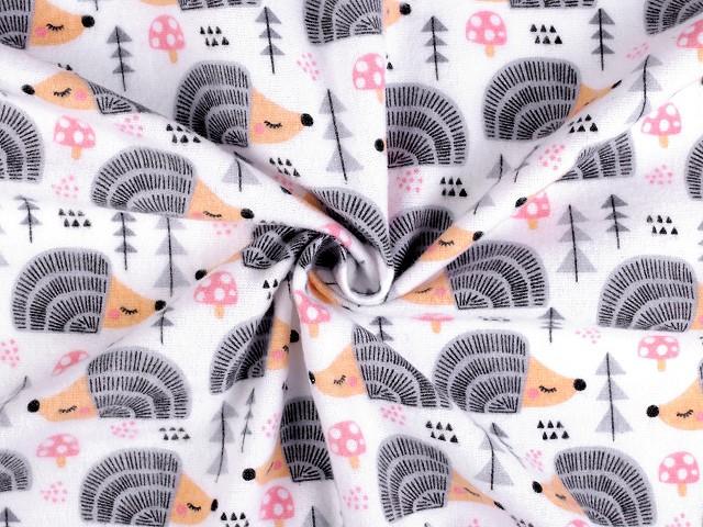 Bavlnený flanel ježkovia