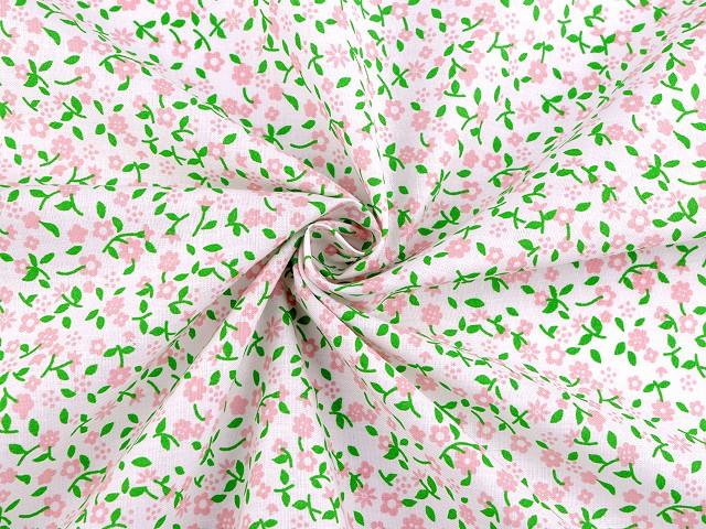 Bavlněná látka mini květy