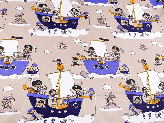 Bavlněná látka piráti