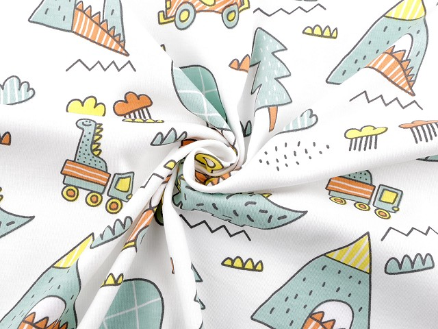 Úplet bavlněný dinosaurus