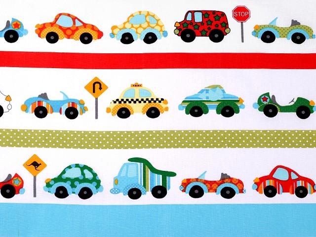 Bavlněná látka auta
