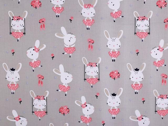 Bavlnená látka králik / princezná