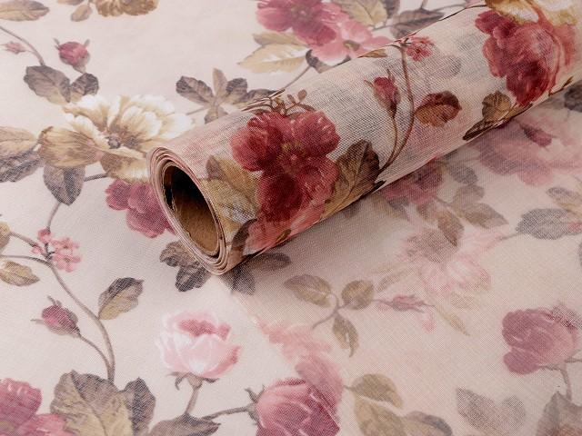 Dekorační látka šíře 66 cm květy