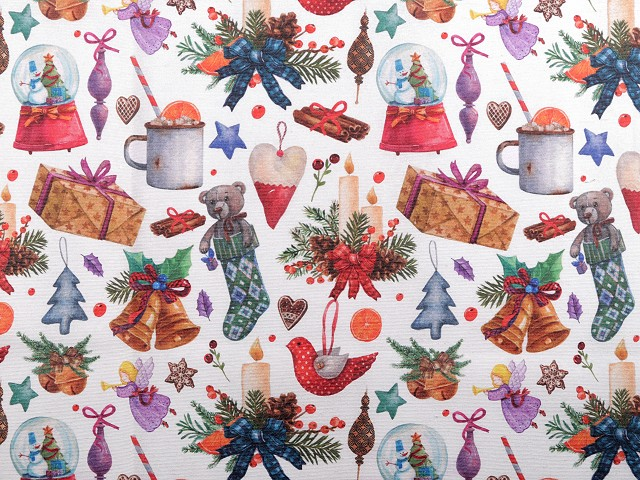 Dekoračná látka Loneta vianočná